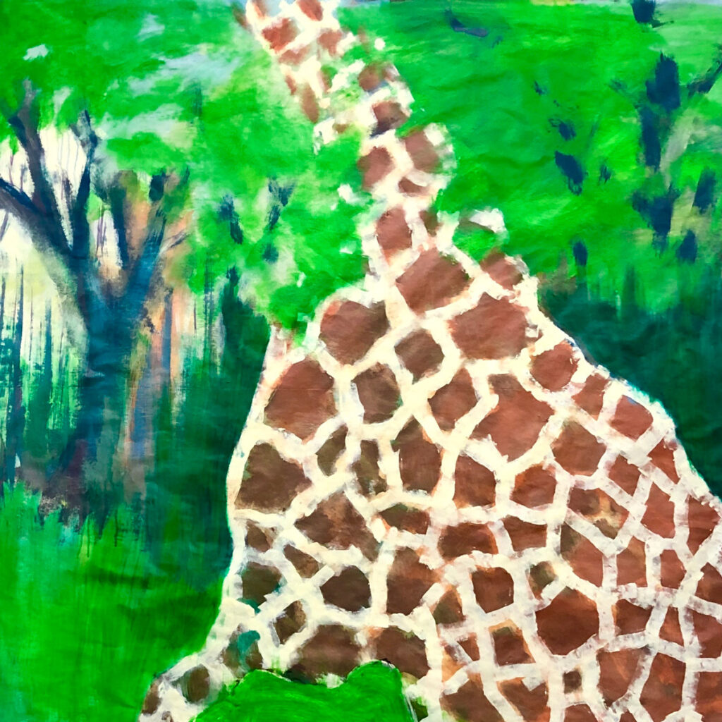 painting of abstract giraffe by R Sedestrom